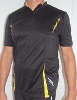 Cycling Bike Jersey Sport  MTB Black Yellow Men Unisex M L XL