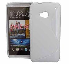 TPU Rubber Case X-Design für HTC One M7 in weiß Etui Hülle Cover Schutzhülle