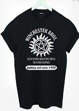 Winchester Brothers T Shirt Supernatural Sam Dean Hunting Tee adult kids s xxxl