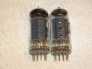 2 x 7868 RCA Tubes *Matched Pair*Lower Testing*Black Plates