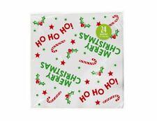 24 Merry Christmas Ho Ho Ho Paper Napkins Dinner Festive Tableware Party UK