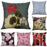 "Cushion Linen leaf Printing Decor Pillow Cotton Home Flower 18"" Case Cover"