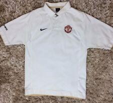 NIKE MANCHESTER UNITED Polo Shirt SMALL Men Short Sleeve White Man-U FC Football
