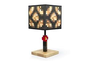 Minecraft Glowstone 14 Inch Corded Desk LED Bedside Night Light Lamp for Gamers