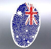 Australian finger print flag sticker Aussie made and designed Australia Vinyl
