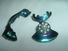 VINTAGE RHINESTONE PEARL TELEPHONE SCATTER PINS IN GIFT BOX