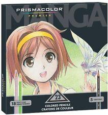 Prismacolor Premier Soft Core Colored Pencil,  Set of 23 Assorted Manga Colors ,