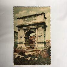 Roma Arco di Tito Titus Bogen Unposted Postcard Carte Postale