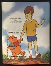Disney Winnie the Pooh Christopher Robin mnh Souvenir Sheet 1996 Ghana #1903