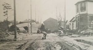 Dayton Ohio 1913 Flood Debris At Morton & Brown Postcard PR