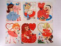 6 Hallmark Valentines Girls Vintage Unused Fancy Dresses Ballerina