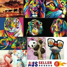 Oil Painting By Numbers Kit Craft DIY Paint On Canvas Frameless Animals Scenery
