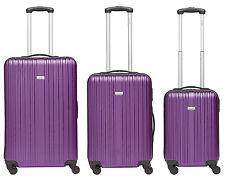 3er-Set Line Hartschalenkoffer aus robustem ABS in lila