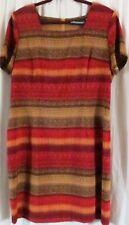 Sag Harbor Dress 18 Short Sleeve Multi Color Red Short Sleeves
