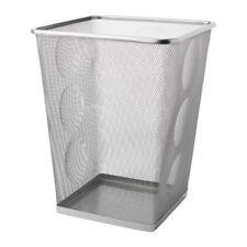 NEW IKEA DOKUMENT Wastepaper basket, silver-colour