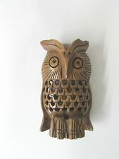 Carved Wood Owl (4 inches Tall)