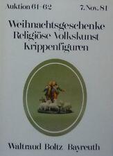 RELIGIÖSE VOLKSKUNST von BOLTZ BAYREUTH 1981 auf 84 Seiten über 700 Positionen