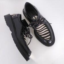 Zara Man Zebra Print & Studded Heel Shoes Size 42 EU