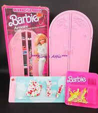 SWEET ROSES Barbie Doll ARMOIRE 4763 Plus Extras!