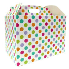10 x SPOTTY GIFT BOXES -  Baby Shower Gift Boxes, Easter Hampers, Sweet Bags