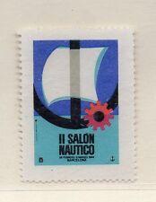 España Viñeta Conmemorativa II Salon Nautico Barcelona año 1964 (DA-101)