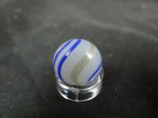 handmade marble,opaque lutz ,blue lines,hit in lutz line,9/16''