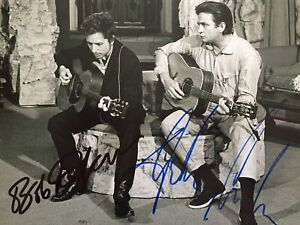 Johnny Cash & Bob Dylan Authentic Signed Photo