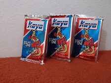 VINTAGE  KAYO ROUND ONE BOXING  TRADING CARDS..  3 PACKS OF 14 CARDS EACH 1991