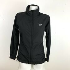 Oakley Women's Long Sleeve Windbreaker Zip Jacket Black Sizs XS