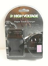 High Voltage Tech Rapid Travel Charger HV-CH-BK1 For Sony NP- BK1 100-240 Volts