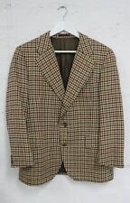 BURBERRY Vintage Mens Brown Tweed Wool Jacket