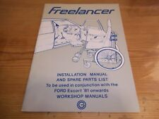 Freelancer Mobility Unit Installation Manual Ford Escort 1981 Wheelchair Users