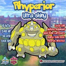 Pokemon Sword And Shield Rhyperior Ultra Shiny 6Ivs Pokerus Max Evs