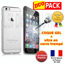 "LOT COQUE ETUI HOUSSE IPHONE 6/6S - 4.7"" + FILM PROTECTION EN VERRE TREMPE"