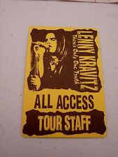 Lenny Kravitz There's Only One Truth All Access Staff Backstage Concert Pass