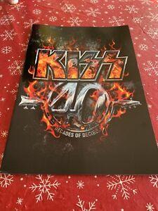 KISS 40 YEARS DECADES OF DECIBELS TOUR BOOK, PROGRAM,2014,programme,tourbook