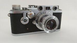 Leitz Leica IIIf  Nr. 697021 incl. Lederhülle u.50mm Objektiv Schraubleica 1954