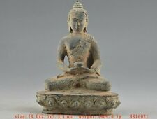Auspicious Chinese Old Bronze Collectable Handwork Carving Buddha Statue