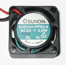 """Sunon 20 mm - 5 V Fan - 10000 RPM - 10 mm Thick - 6"""" Long Wires - Quiet 22 dB"""