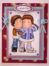 "VALENTINES /LOVE- Magnolia Tilda & Edwin ""perfect love"" - Handmade card - BY DEE"
