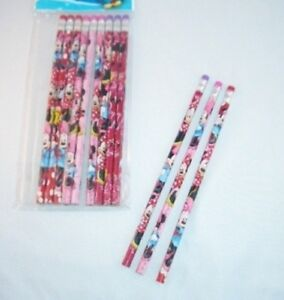 12 pcs Disney Minnie Mouse Wood Pencil Kid's Party Gift School Stationery Supply