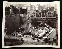 FULTON STREET NEW YORK CITY BEAUTIFUL PHOTO EARLY 1900s  trains People etc #8378