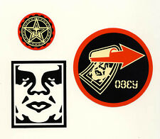 OBEY GIANT Shepard Fairey 3 STICKER LOT Set #4 *BRAND NEW* Andre Giant