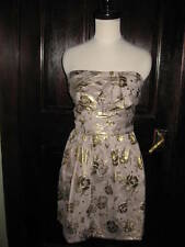 NWT $378 JUICY COUTURE GOLD CHERRY BLOSSOM DRESS 0 XS P