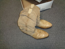 1980's Zodiac Mens Leather Boots  w/Original Box   Tan Leather