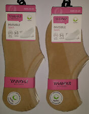 6 pares calcetines invisibles deportivos pinkis. Beige. Mujer. Talla 35 / 40
