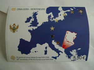 MONTENEGRO SOUVENIR SHEETS # 130 EUROPA MAPS CAT$ 15