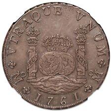 1761 Mexico 8 Reales Pillar Dollar, NGC AU-58