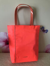 "Lancome Orange Fabric Tote Bag - 15 1/4"" W x 15 1/2"" T x 4"" Wide Base - New"