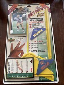 1995 UPPER DECK FLICK IT TABLETOP FOOTBALL GAME VIKINGS & BILLS, JERRY RICE CARD
